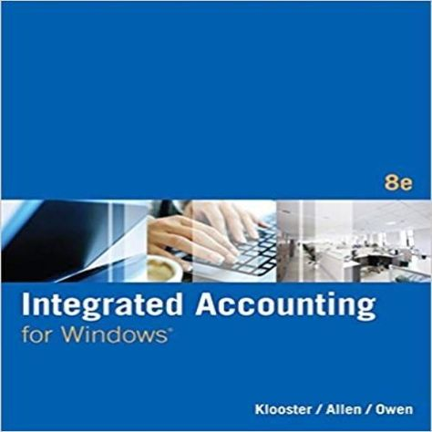 Integrated Accounting For Windows 8th Edition By Klooster Solution Manual Accounting General Ledger Learn Accounting