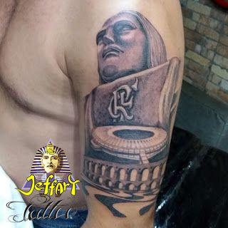 Tatuagem De Cristo Redentor Flamengo Maracana Arcos Da Lapa E