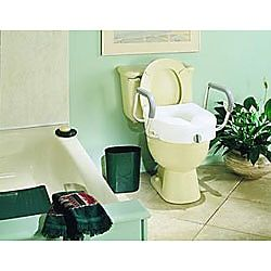 E Z Lock Raised Toilet Seat With Arms Item 930622 Toilet Seat Toilet Toilet Bowl