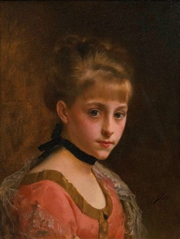 Portrait of a Young Woman by Gustave Jean Jacquet | Jacquet