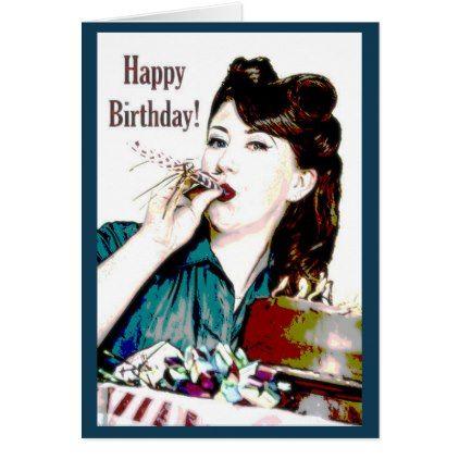 Rockabilly Happy Birthday Card Zazzle Com Birthday Cards