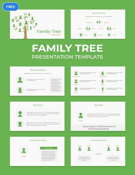 Free Family Tree Powerpoint Presentation Powerpoint Presentation