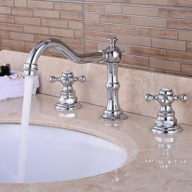 Nani Chrome Waterfall Faucet Two Handle Set Sink Faucets