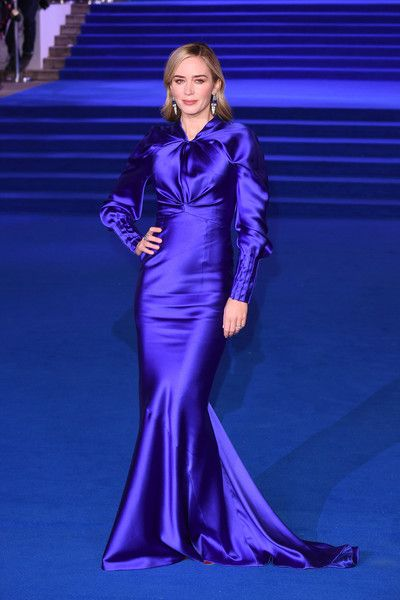 Emily Blunt attends the European Premiere of 'Mary Poppins Returns' at Royal Albert Hall.
