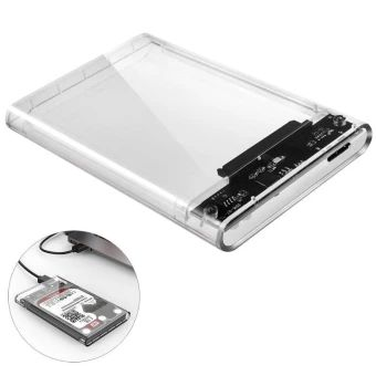 "ORICO 2139U3 2.5/"" USB 3.0 Transparent 5Gbps Sata HDD Case Hard Drive Enclosure"