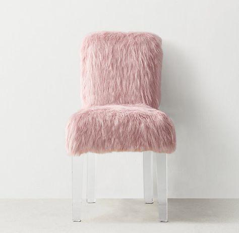 Brilliant Davina Kashmir Faux Fur Desk Chair C A M I N O Bralicious Painted Fabric Chair Ideas Braliciousco
