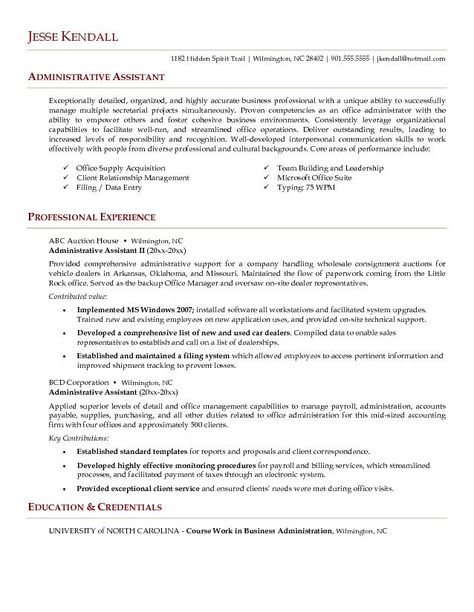 Click Here to Download this Administrative Assistant Resume - personal assistant resume sample