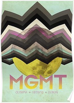 MGMT Tour Poster Poster