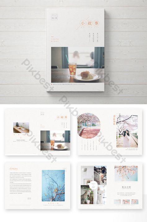 small fresh art fan reunion brochure brochure template pikbest