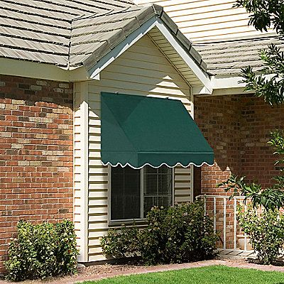 Standard Fabric On Metal Frame Scalloped Window Awnings Traditional Windows Windows Exterior