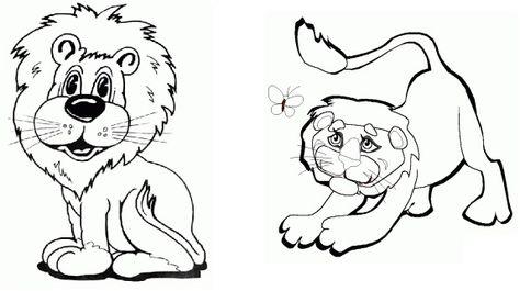 Desenho Para Colorir De Leao Imprimir E Colorir Animais Gratis