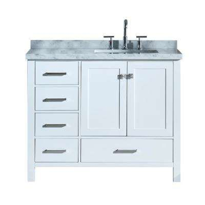 38 46 In Sink On Right Side 42 Inch Vanities Bathroom Vanities Bath The Home Single Bathroom Vanity Bathroom Sink Vanity Rectangular Sink Bathroom