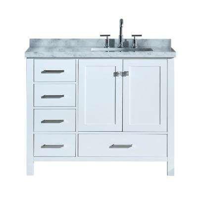 38 46 In Sink On Right Side 42 Inch Vanities Bathroom