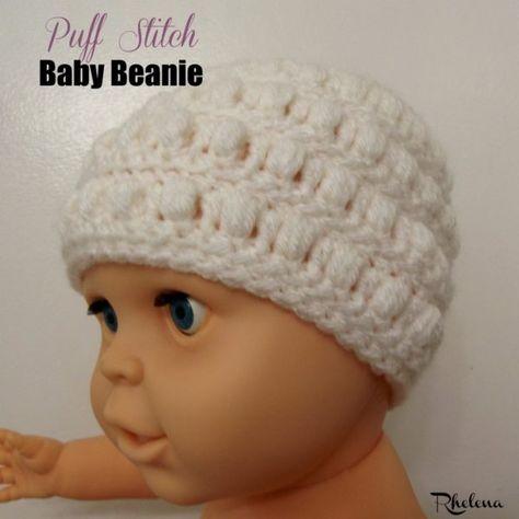 Puff Stitch Baby Beanie ~ FREE Crochet Pattern