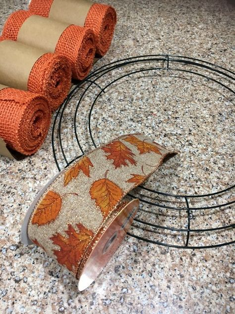 Burlap wreaths don't have to be difficult. Try this easy burlap wreath method and become a pro in 30 minutes. You will want to make one for every season and wil… fall crafts Easy Burlap Wreath In Less Than 30 Minutes Easy Burlap Wreath, Burlap Wreath Tutorial, Burlap Crafts, Wreath Crafts, Diy Wreath, Wreath Making, Wreath Ideas, Fabric Wreath, Diy Crafts