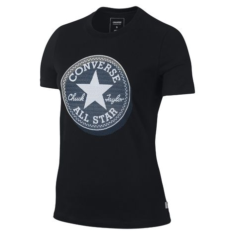 3dba83d63956 Converse Micro Dot Chuck Patch Women s T-Shirt Size Medium (Black) - Clearance  Sale
