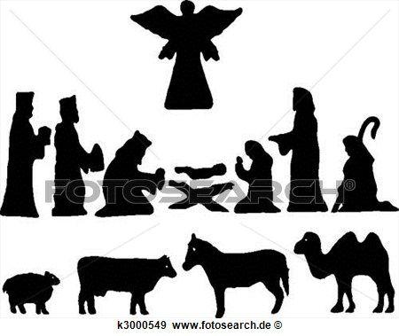 Silhouette Stern Von Bethlehem Geburt Clip Art Krippe Silhouette Krippenspiele Und Silhouette