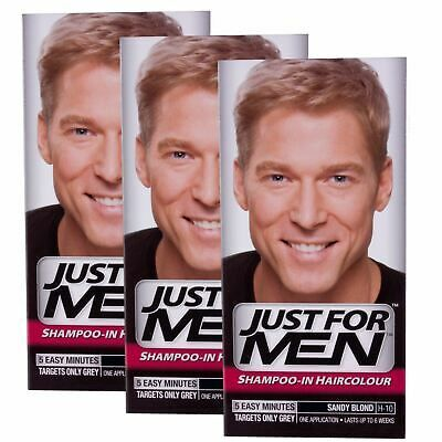 Details About 3 X Just For Men Shampoo In Hair Colour Sandy Blonde H10 In 2020 Just For Men Shampoo Sandy Blonde Just For Men