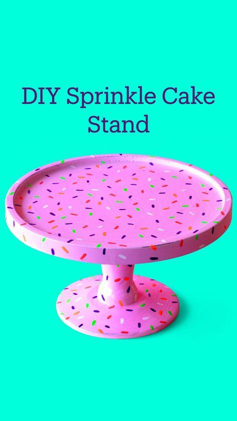 DIY Sprinkle Cake Stand
