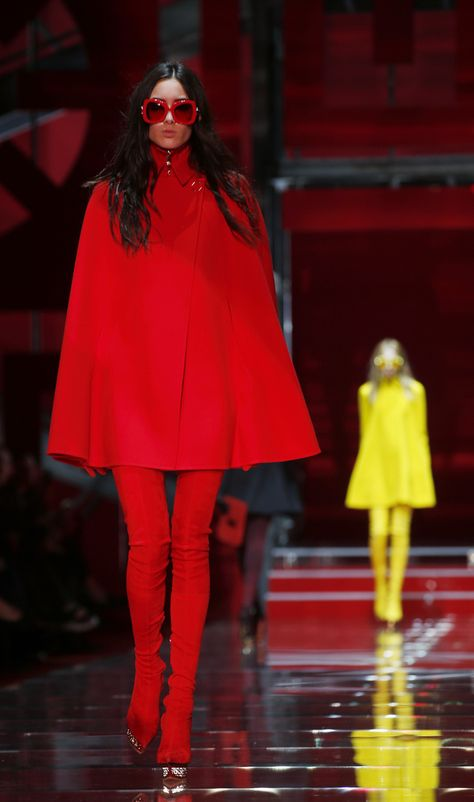 b7e8f55abb1f A model wears a creation for Versace women s Fall-Winter 2015-16  collection, part of the Milan Fashion Week, unveiled in Milan, Italy,  Friday, Feb.