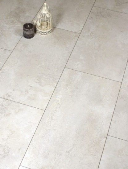 Egger Chalk Ceramic Tiles Are Hard Wearing And Very Realistic Cream Laminate Ti Tile Effect Laminate Flooring Tile Effect Laminate Laminate Flooring In Kitchen
