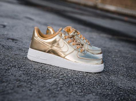 liquid gold nike air force 1