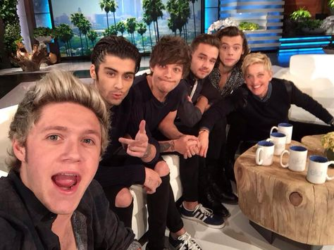 One Direction on Ellen DeGeneres: Did Harry Styles Send Taylor Swift Roses? One Direction Harry, One Direction Pictures, One Direction Selfie, 0ne Direction, Direction Quotes, Ellen Degeneres, Liam Payne, Tour Manager, X Factor