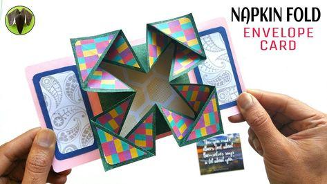 Napkin Fold Envelope Card - DIY Tutorial - 904