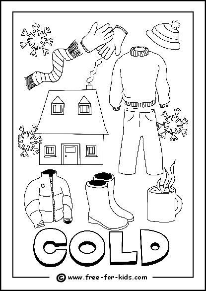 Cold Weather Colouring Pages