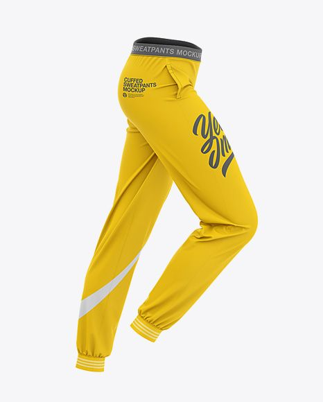 Download Women S Cuffed Sweatpants Mockup Side View In Apparel Mockups On Yellow Images Object Mockups Clothing Mockup Shirt Mockup Design Mockup Free