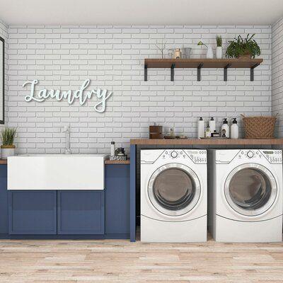 Winston Porter Cursive Laundry Sign Wall Decor Wayfair In 2020 Word Wall Decor Laundry Room Decor Laundry Wall Art