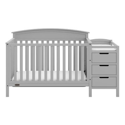 Graco Benton 5 In 1 Convertible Crib And Changer Combo Color Grey Baby Cribs Convertible Crib Cribs