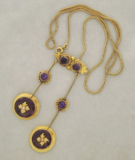Toi/&Moi Original Design Handmade Gold-Plated Horizontal Pearl Rose Quartz Necklace for Her