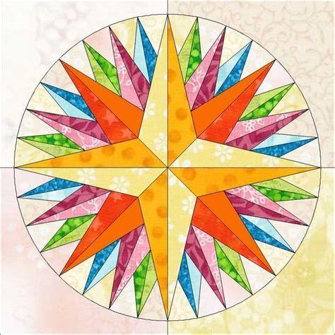 Resultado De Imagem Para Mariners Compass Pattern Patchwork
