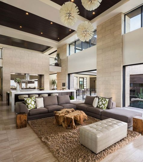 Contemporary Living Room Design Cool Phenomenal Desert Contemporary Showcase Home In Nevada  Blue 2018