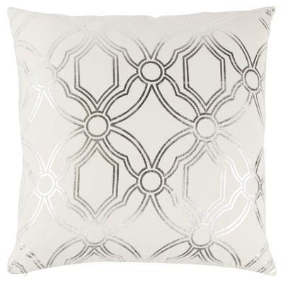 Geometric Silver Metallic Throw Pillow Metallic Throw Pillow Metallic Pillow Geometric Throw Pillows
