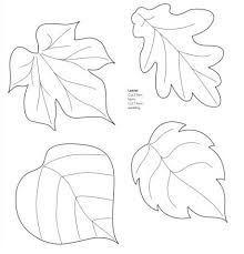 Moldes de hojas de otoño | figuras de papel | Pinterest | Moana ...