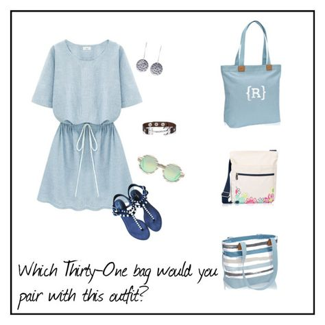 Wander Tote, Organizing Shoulder Bag and Demi Day Bag by Thirty-One Gifts. Jewelry by JK by Thirty-One. #31gifts #totesbyteri #jklove #polyvore