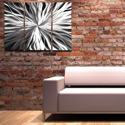Silver Wall Art Cosmic Energy By Brian Jones Aluminum Metal Art Panels With Abstract Design Silver Wall Art Large Metal Wall Art Silver Walls