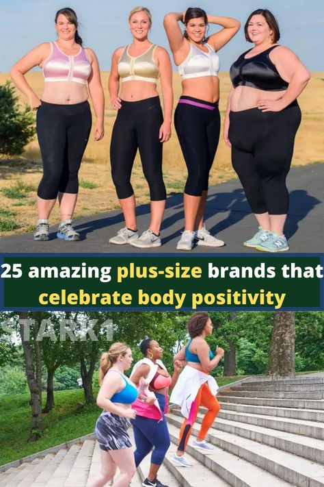 Being body-positive is such an inspiring trait that all women should strive to have. You gotta admire a woman who absolutely feels comfortable in her own skin! Although there are still some folks who ignorantly rant over the imperfections of women and the need to live up to impossible beauty standards, there are still people and organizations who support body positivity in women. Basic Wear, Plus Size Brands, Sports Skirts, Addition Elle, Athleisure Outfits, Kinds Of Clothes, Body Positive, Beautiful Body, Active Wear For Women