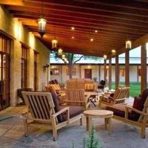 Covered Patio Lighting Ideas Hacienda Style Homes Porch Design Hacienda Style