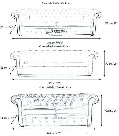 Length Of A 3 Seater Sofa Chesterfield Furniture Chesterfield Sofa Dimensions Sofa Design