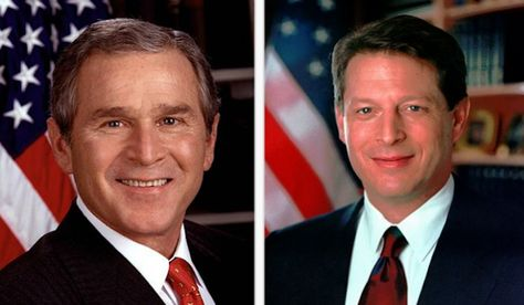 This Is A Picture Of George W Bush Al Gore This Took Place When