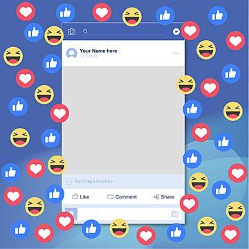 Social Media Background Facebook Emojis Facebook Icons Social Icons Media Icons Png And Vector With Transparent Background For Free Download In 2020 Social Media Icons Vector Facebook Frame Banner Template Photoshop