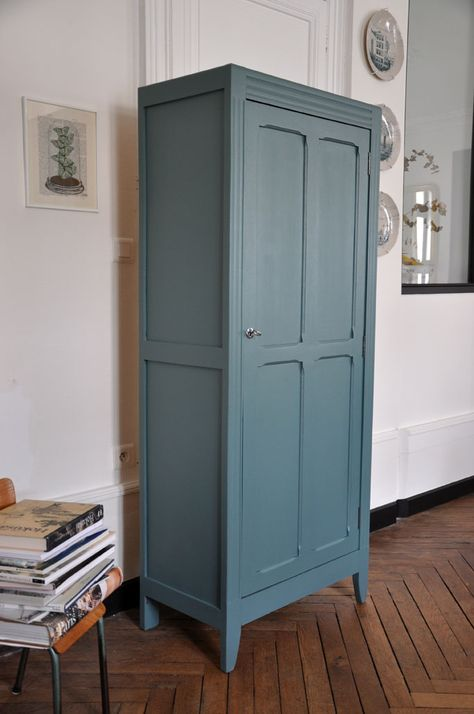 Armoire parisienne, bonnetière vintage, meubles vintage Nantes