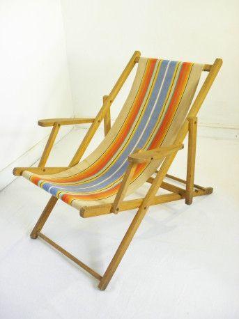 Chaise Longue Vintage Vintagestyle Furniture Furniture Design Tissu 60s Wood Garden Sunset Retro Home Deco Decoration Chaise Longue Chaise Vintage
