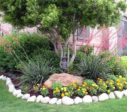 37 Flower Landscape Design Ideas To Have A Colorful Garden Front Yard Landscaping Design Texas Landscaping Backyard Landscaping Designs
