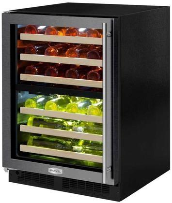 Ml24wdg3lb 24 Marvel High Efficiency Dual Zone Wine Refrigerator