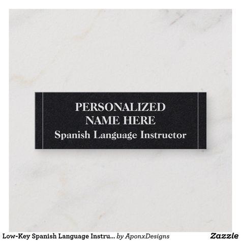 Low Key Spanish Language Instructor Business Card Zazzle Com