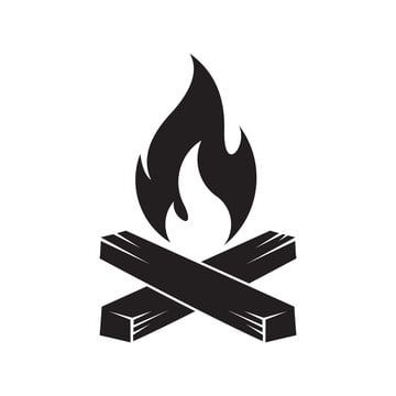 Camp Fire Icon Camping Clip Art Isolated On White Background Campfire Clipart Fire Icons Art Icons Png And Vector With Transparent Background For Free Downlo Fire Icons Camp Fire Tattoo Flower